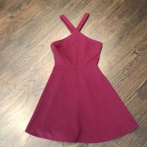 Likely raspberry color dress